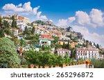 Panorama Of Taormina  Sicily...