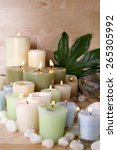 candles in spa setting | Shutterstock . vector #265305992
