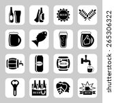 beer  icon set   bottle  glass  ... | Shutterstock . vector #265306322