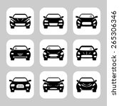 car icons set | Shutterstock . vector #265306346