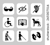 physically disability related ... | Shutterstock . vector #265307516