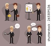 vector icons of businessmen.... | Shutterstock .eps vector #265309136