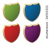 vector shields   3d badges | Shutterstock .eps vector #26531521