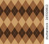 argyle basic seamless texture... | Shutterstock .eps vector #265320812