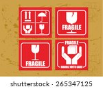 shipping label | Shutterstock .eps vector #265347125
