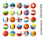 world flags round badges ...   Shutterstock .eps vector #265347302