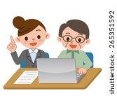 women and senior men has a... | Shutterstock .eps vector #265351592