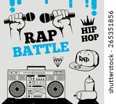 rap battle  hip hop  breakdance ... | Shutterstock .eps vector #265351856