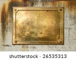 Brass Yellow Metal Plate On...