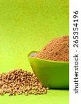 coriander seeds and powdered... | Shutterstock . vector #265354196