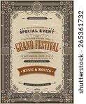 vintage retro festival poster... | Shutterstock .eps vector #265361732