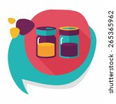kitchenware sauce bottle flat... | Shutterstock .eps vector #265365962