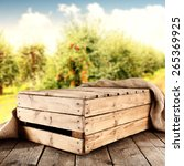 box of wood free space and... | Shutterstock . vector #265369925