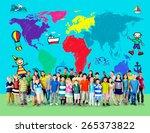world kids journey adventure... | Shutterstock . vector #265373822