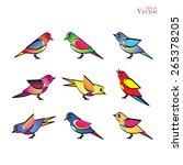 set of different birds bird...   Shutterstock .eps vector #265378205