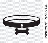 dog collar icon | Shutterstock .eps vector #265379156