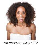 portrait of a happy african... | Shutterstock . vector #265384322