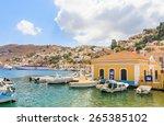 symi  greece   august 02  2014  ... | Shutterstock . vector #265385102