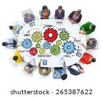 team teamwork goals strategy... | Shutterstock . vector #265387622