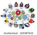 team teamwork goals strategy...   Shutterstock . vector #265387622