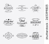 retro typography vector... | Shutterstock .eps vector #265399805