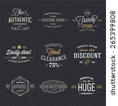 retro typography vector... | Shutterstock .eps vector #265399808