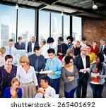 people global communication... | Shutterstock . vector #265401692