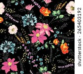 Seamless pattern,sketch flowers,floral pattern,chic vectors,print and pattern