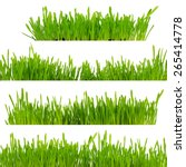 green grass isolated on white... | Shutterstock . vector #265414778