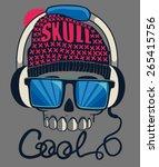 cool skull design for tee | Shutterstock .eps vector #265415756