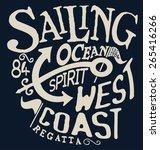 marine vector typography design | Shutterstock .eps vector #265416266