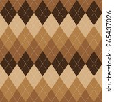 argyle basic seamless texture... | Shutterstock .eps vector #265437026