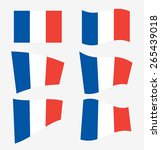 set of french flags on white...   Shutterstock .eps vector #265439018