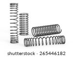 helical coil springs isolated... | Shutterstock . vector #265446182