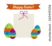 vector color set of four easter ...   Shutterstock .eps vector #265449206