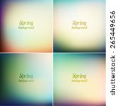 abstract spring backgrounds set ... | Shutterstock .eps vector #265449656