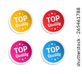 top quality stickers | Shutterstock .eps vector #265461788