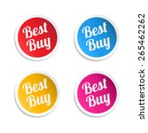 best buy stickers | Shutterstock .eps vector #265462262