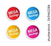 mega savings stickers | Shutterstock .eps vector #265462286