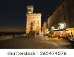 Town Hall Square In San Marino...