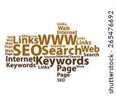 text cloud. seo wordcloud.... | Shutterstock .eps vector #265476692