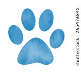 silhouette animal paw  | Shutterstock .eps vector #265476842