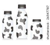 isolated funny milk glass... | Shutterstock .eps vector #26547787