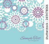 vector purple and blue floral... | Shutterstock .eps vector #265478066