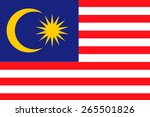 malaysia flag | Shutterstock .eps vector #265501826
