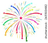 fireworks vector on white...