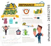 refinance home with graphic... | Shutterstock .eps vector #265512755
