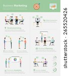 info graphic business ... | Shutterstock .eps vector #265520426