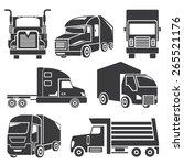 truck icons set | Shutterstock .eps vector #265521176