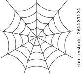 spider web isolated on white... | Shutterstock .eps vector #265531535
